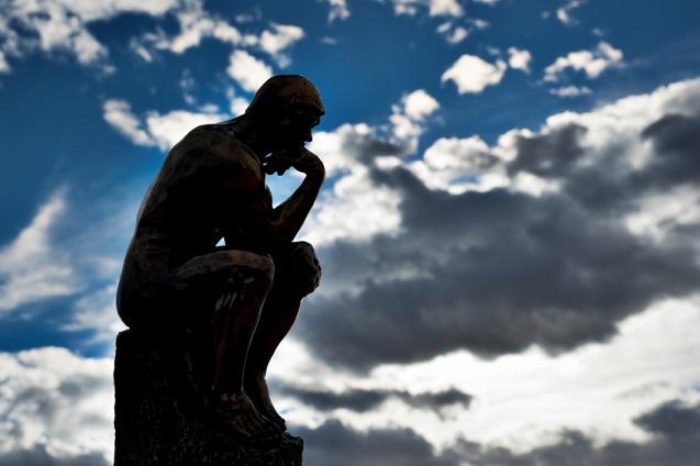 Rodin's Thinker in Silhouette 0782