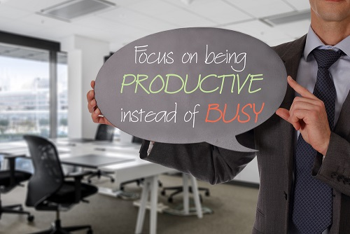 productive not busy